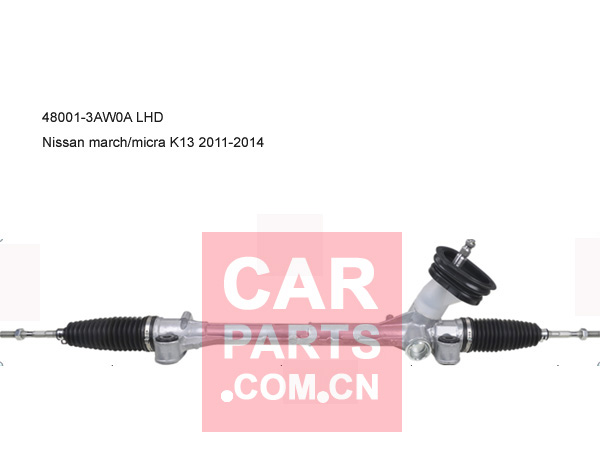48001-3AW0A,STEERING RACK LHD NISSAN MARCH MICRA K13